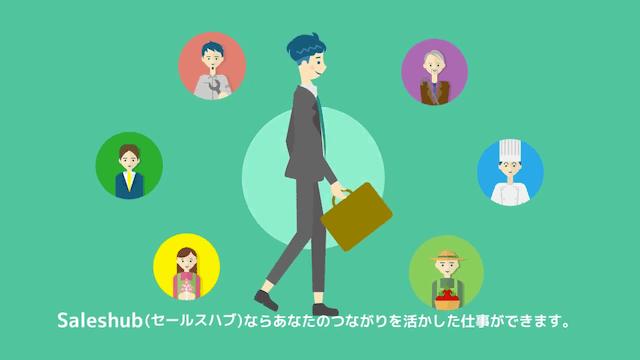 サービス紹介動画 リファラル営業プラットフォーム「Saleshub(セールスハブ)」